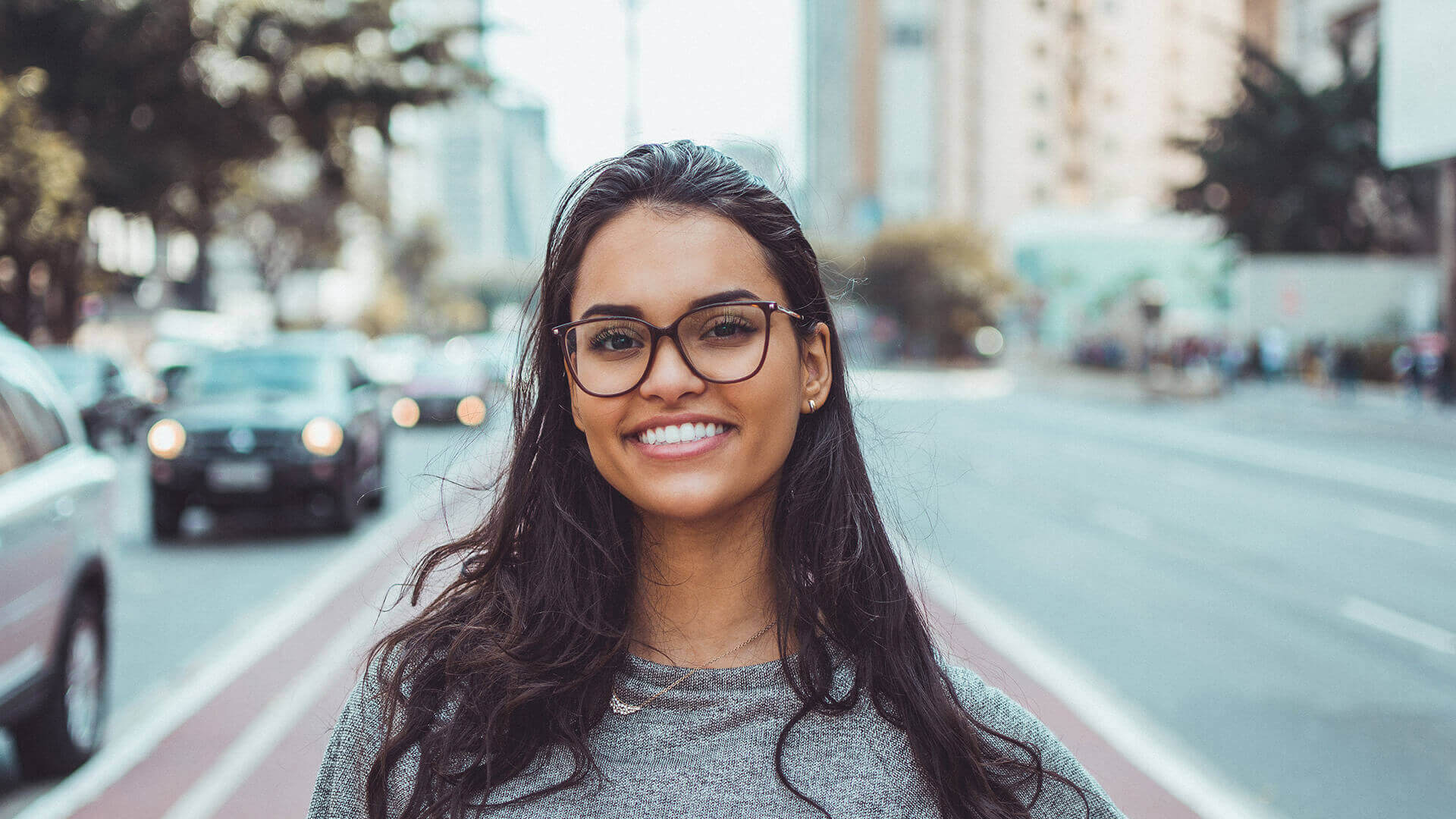 Happy woman smiling with beautiful white teeth